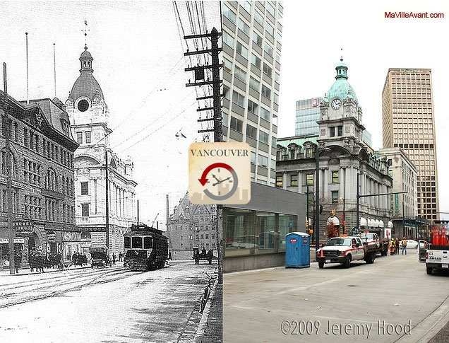 'Vancouver, Then and Now' / 'Vancouver Avant' : Federal Building - late 1900s/2009 #VendrediAvant
