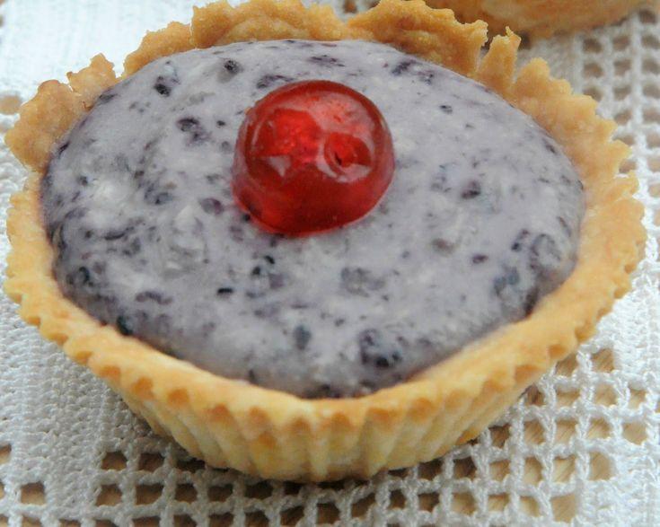 resep bebas gluten: Vegan cream cheese pie blueberry