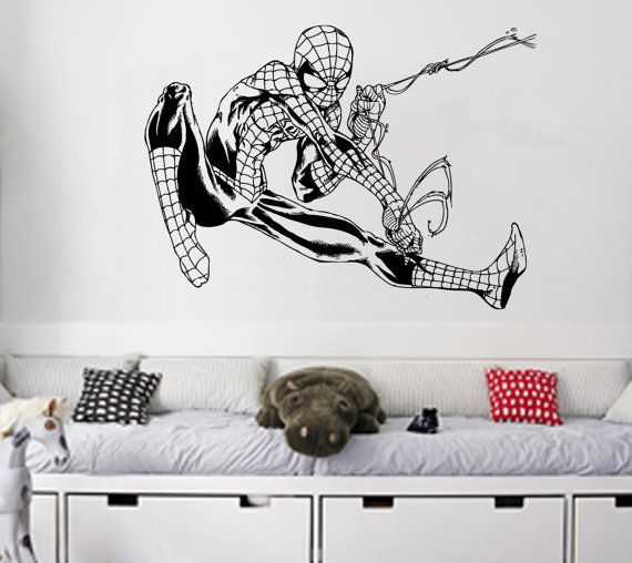 Flying Spiderman Wall Art Sticker