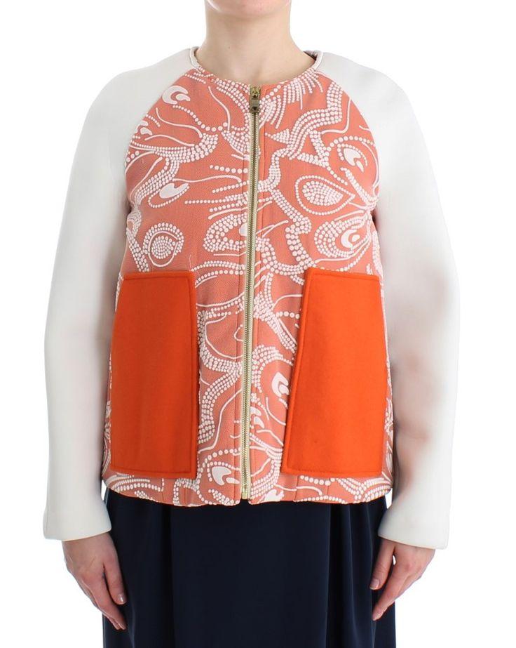Orange wool bomber Jacket