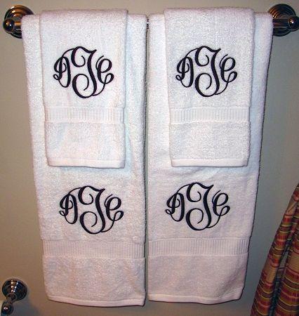 monogrammed towels makes every bathroom welcoming