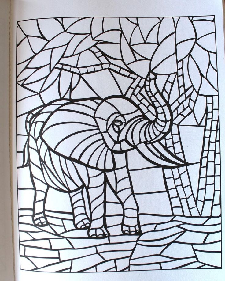 creative haven animal mosaics coloring book creative haven coloring books jessica mazurkiewicz - Mosaic Coloring Book