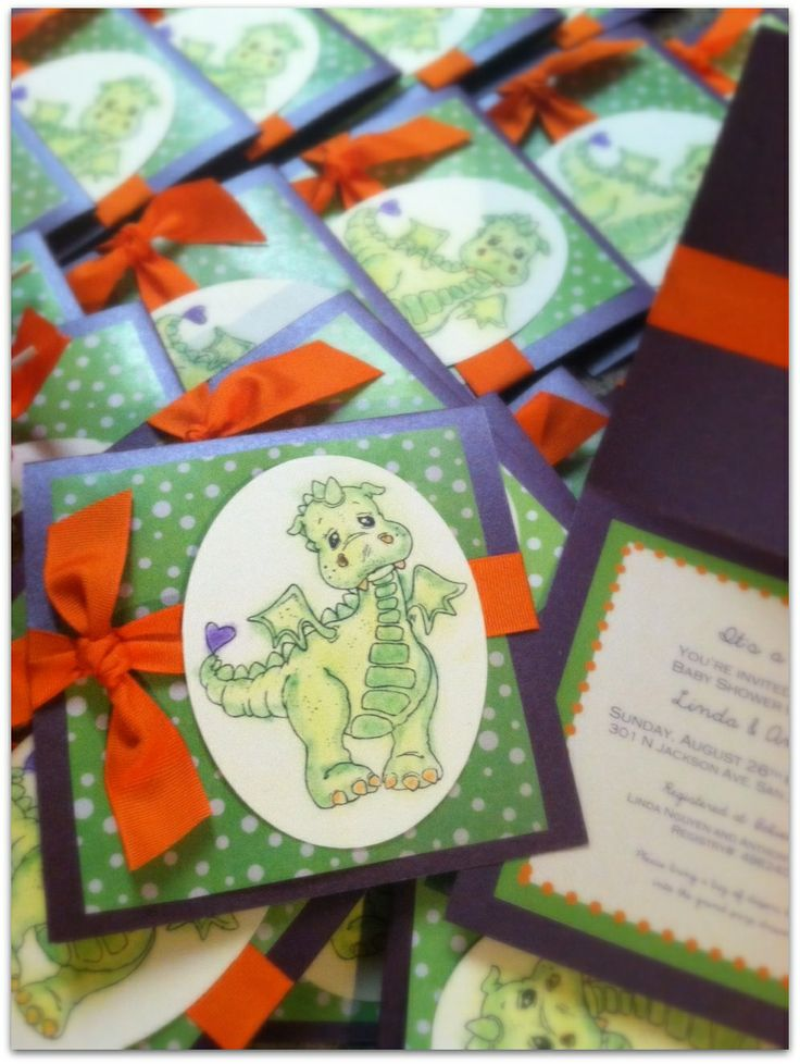 dragon baby shower favors | Another successful adorable Lil Dragon Baby Shower Theme! Invitations ...