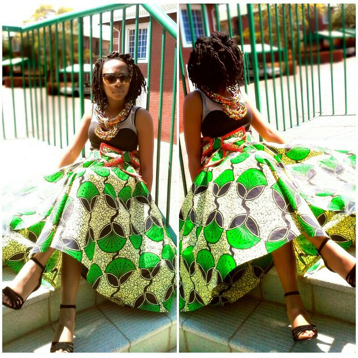 African print skirt by LMClothing!