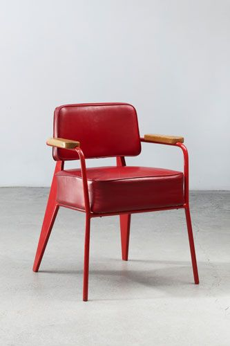 Red Direction chair | Jean Prouvé: Offices, Jeans, Bridges, Office Chairs