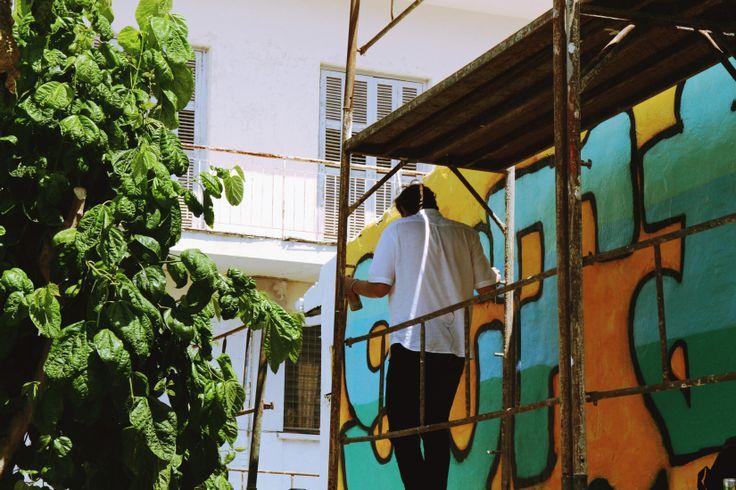 Street art in Limassol, Cyprus. Graffiti game strong!