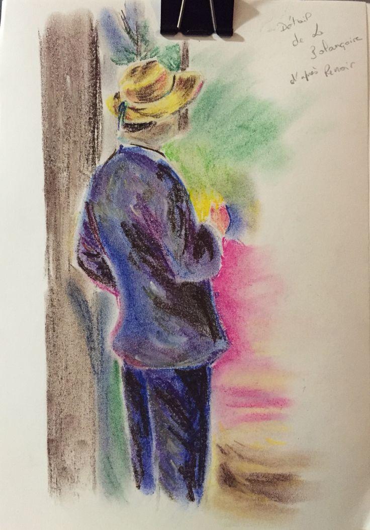 Détail d'après Renoir Pastel sec