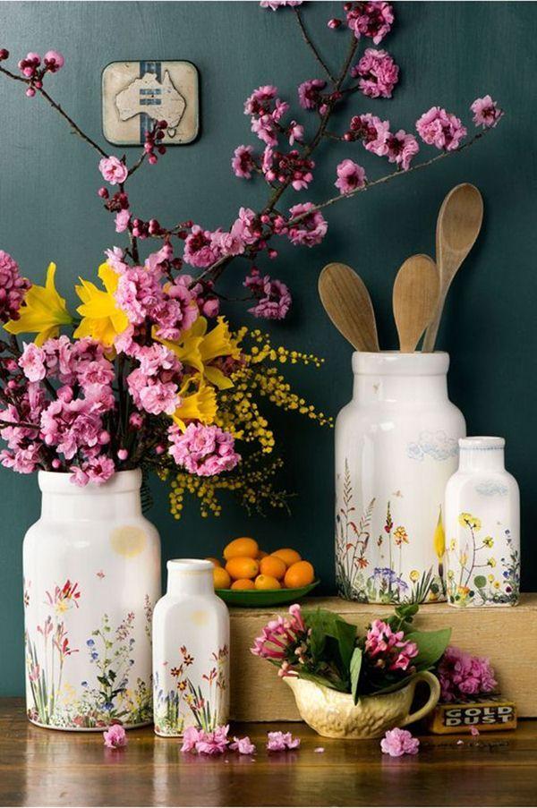 Decora con botellas de cristal y flores - Decoracion - EstiloyDeco