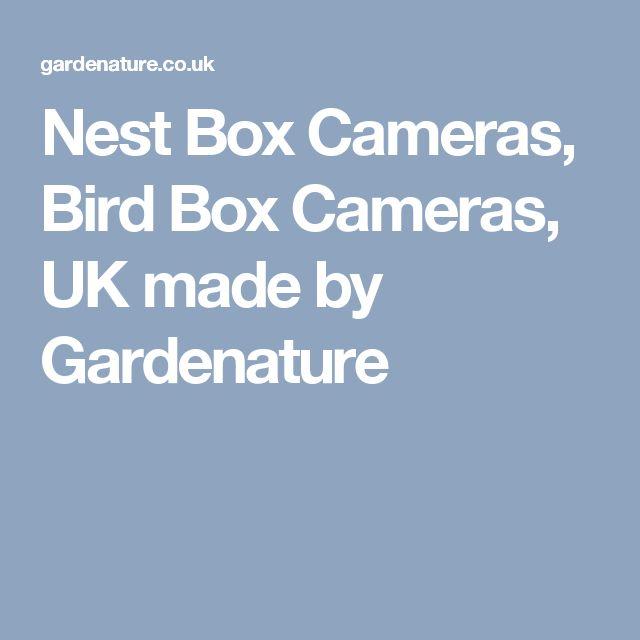 Nest Box Cameras, Bird Box Cameras, UK made by Gardenature