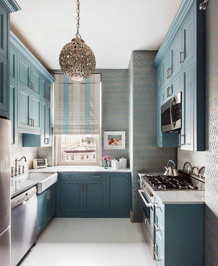 muebles de color azul claro