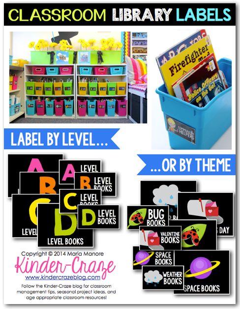 Classroom Library Organization - Simplified - Kinder Craze: A Kindergarten Teaching Blog