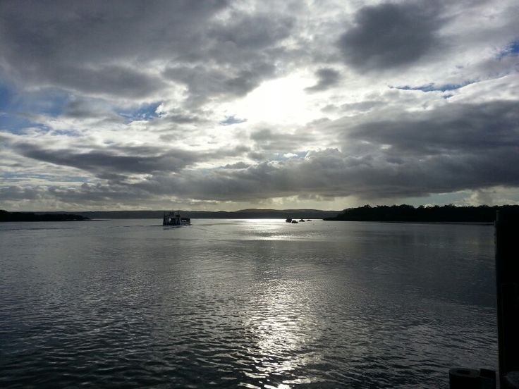 Sun up over North Stradbroke Island.