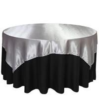 Website with a TON of table linens at wholesale prices - many other products too. @KiLee Edson, check this out, I found it on a random google search! OLSNx72SV 72 x 72 Satin Silver Table Topper