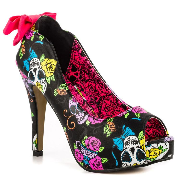 Iron Fist Sweet Tooth Peep Toe Platforms
