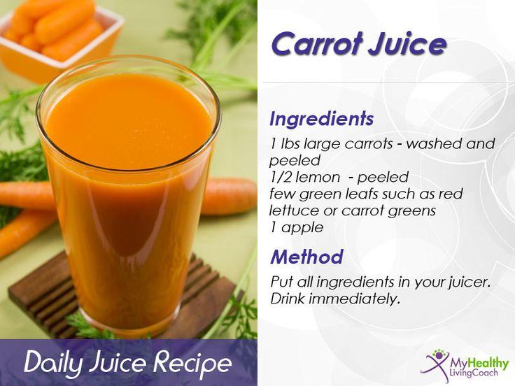 The best carrot juice recipe! Simple ingredients (carrots