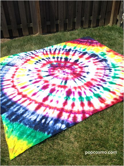 Tie dye sheet for backdrop of photo booth
