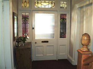 Entry to this amazing property via is timber door with decorative glass insets into vestibule. Coving picture rail Victorian style tiling to floor. & 41 best Front door images on Pinterest | Front doors Vestibule ... Pezcame.Com