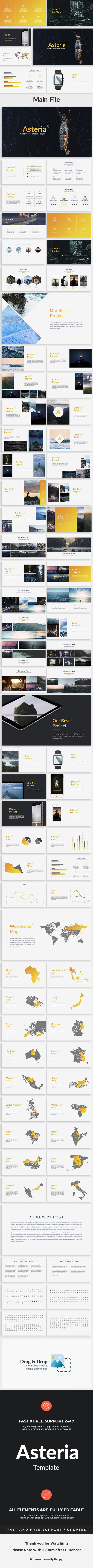 Asteria  Creative Google Slide Template — Google Slides PPTX #customizable #powerpoint • Download ➝ https://graphicriver.net/item/asteria-creative-google-slide-template/19188700?ref=pxcr