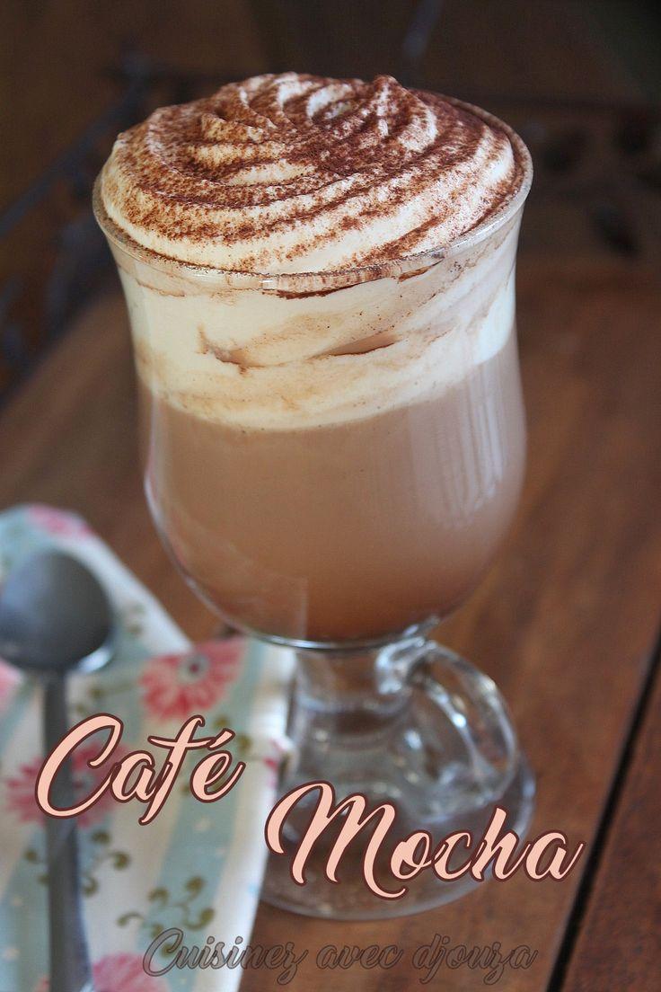 Le café mocha ou cafe moka, une boisson chaude maison au chocolat, lait et crème fouettée bien gourmande. Une recette bien rapide et facile à faire.