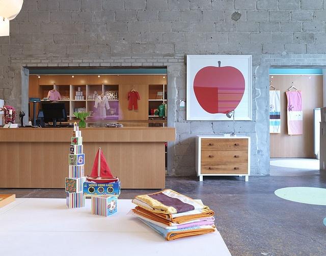 ella+elliot children's store in Toronto. Enzo Mari print.