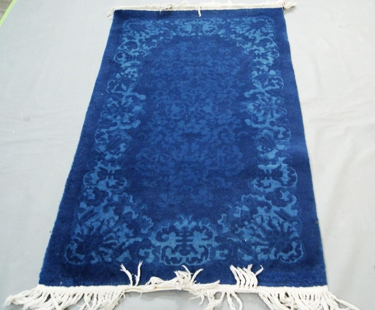 antique blue chinese throw rug