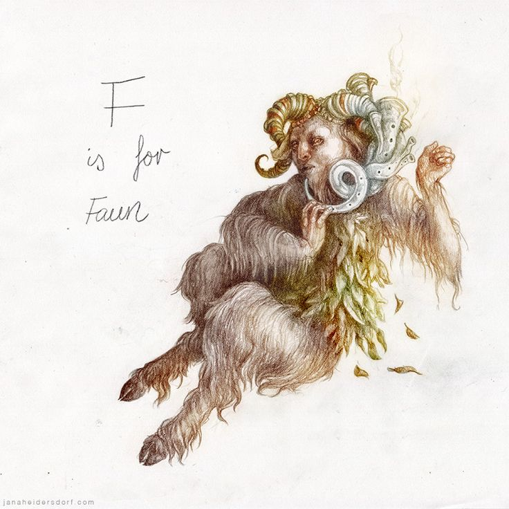 checanty:   F is for Faun - The Great Horned Goat