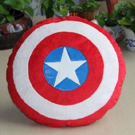 new the captain america shield throw pillow plush decor avengers bedroom