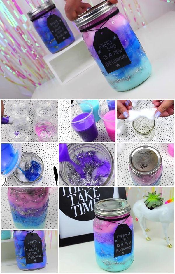 How to Make Galaxy in a Jar | UsefulDIY.com