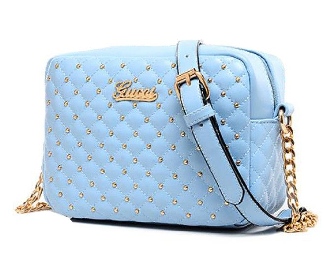 Rivet Studded Leather Bag from sheerFAB.com