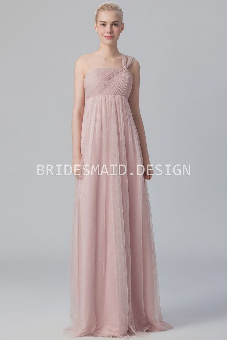62 best fhfh 2015 bridesmaid dresses images on pinterest rose tulle elegant one shoulder empire bridesmaid dress ombrellifo Choice Image