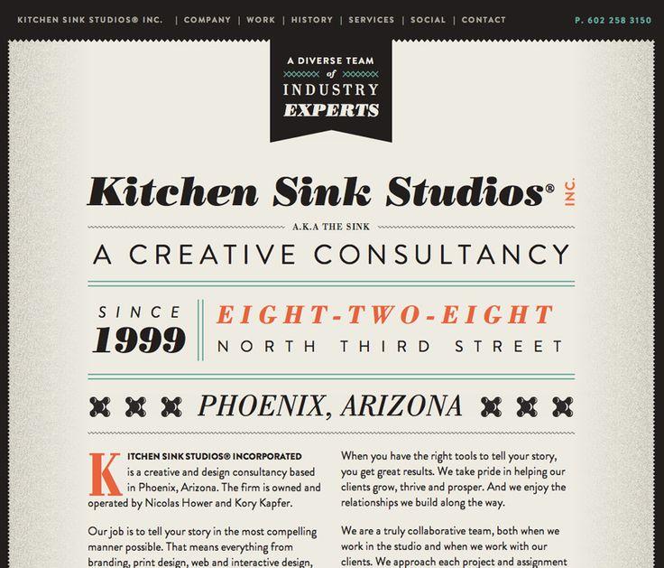 Great type on this website: Kitchens, Design Inspiration, Webdesign, Graphic, Web Design, Website, Sink Studios, Kitchen Sinks, Typography