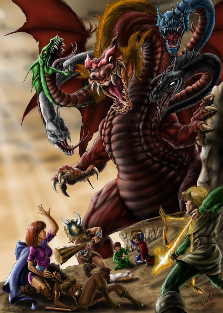 dungeon in dragons / caverna do dragão