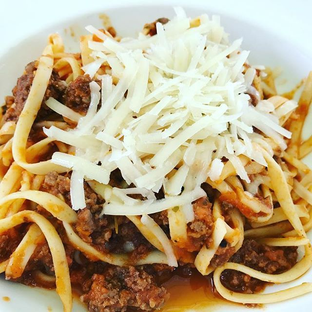 Nothing like a spaghetti bolognese for a filling tasty lunch. #2delicious4words #sydney #spaghetti