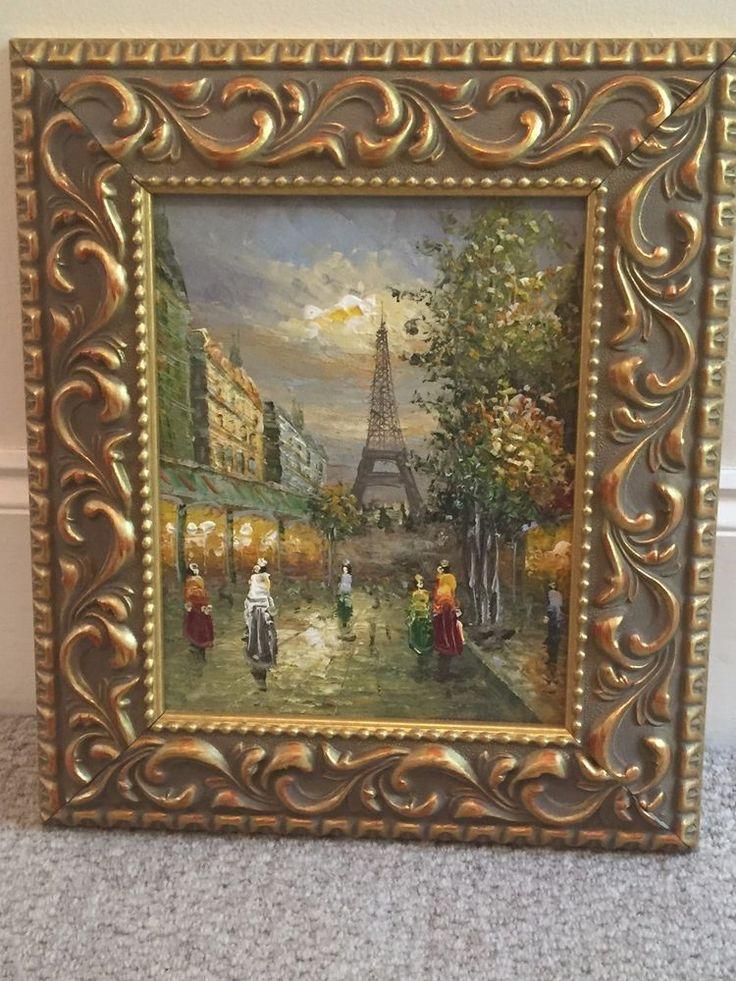Oil Painting Eiffel Tower on Canvas  | eBay