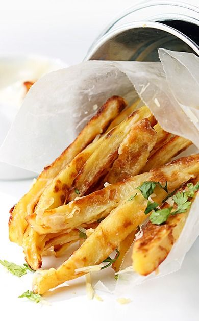 garlic parmesan oven fries oven baked fries garlic parmesan food food ...