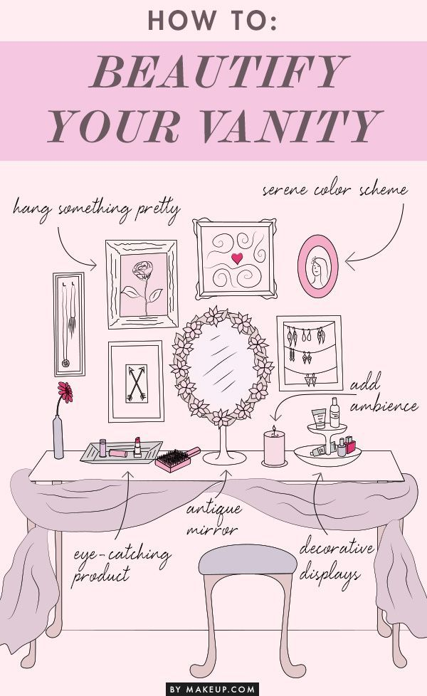 How to turn your vanity into a beautiful space fit for a Hollywood glamor girl!