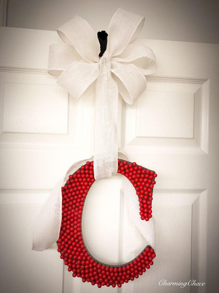 Christmas Initial Hanger - Monogram Door Hanger - Door Decoration - Door Hanger Monogram - Door Hanger - Monogram Door Decor - Room Decor by CharmingChace on Etsy https://www.etsy.com/listing/511957275/christmas-initial-hanger-monogram-door