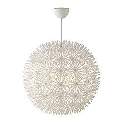 MASKROS Pendant lamp - IKEA - A light for the kitchen will probably depend on the vibe of the table. I've seen this light quite a bit, but I always think it looks really cute. Pinning it just in case!