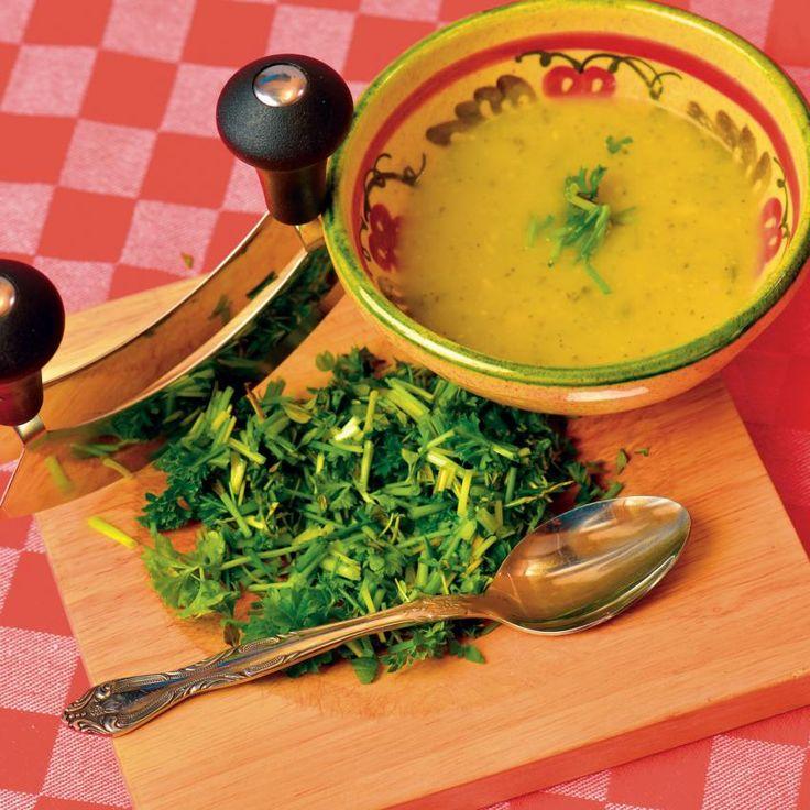 Courgette-mosterd soep - Rineke Dijkinga