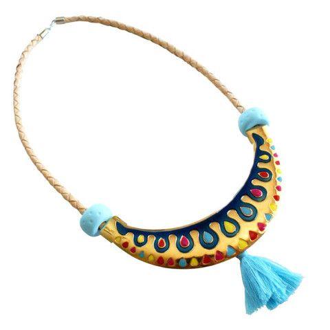 Oktoberdee Malawi Royal Necklace - blue