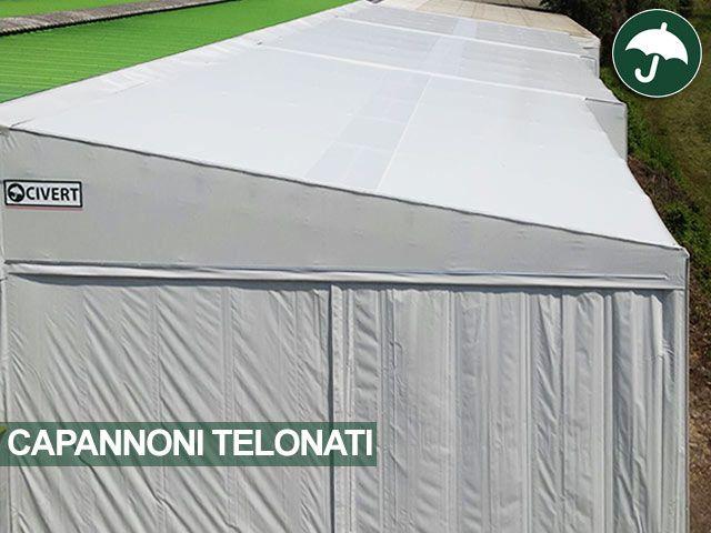 Nuovo #capannone #telonato in #pvc installato da Civert per Frir Elettromeccanica in provincia di #Verona