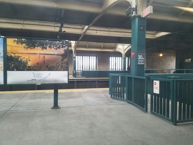 One of several SEPTA regional rail platforms at 30th Street Station in downtown Philadelphia. A major station stop serving all of SEPTA's regional rail train lines, 30th Street is also a stop on Amtrak's Northeast Corridor Line and the station provides access to NJ Transit's Atlantic City line, SEPTA's Market-Frankford subway line, five SEPTA subway-surface trolley lines, numerous bus lines, and stops for discount bus lines Megabus and Bolt Bus.