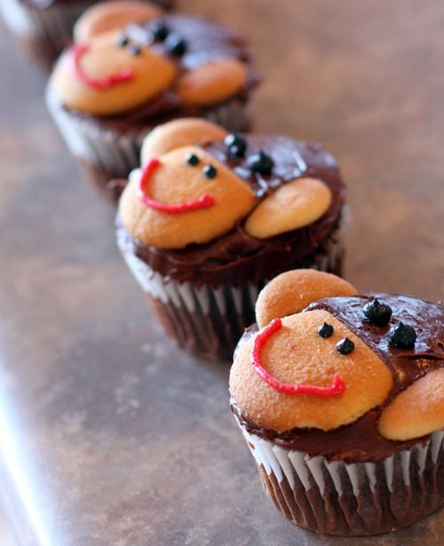 Sock Monkey Cupcakes! So Cute And Easy!