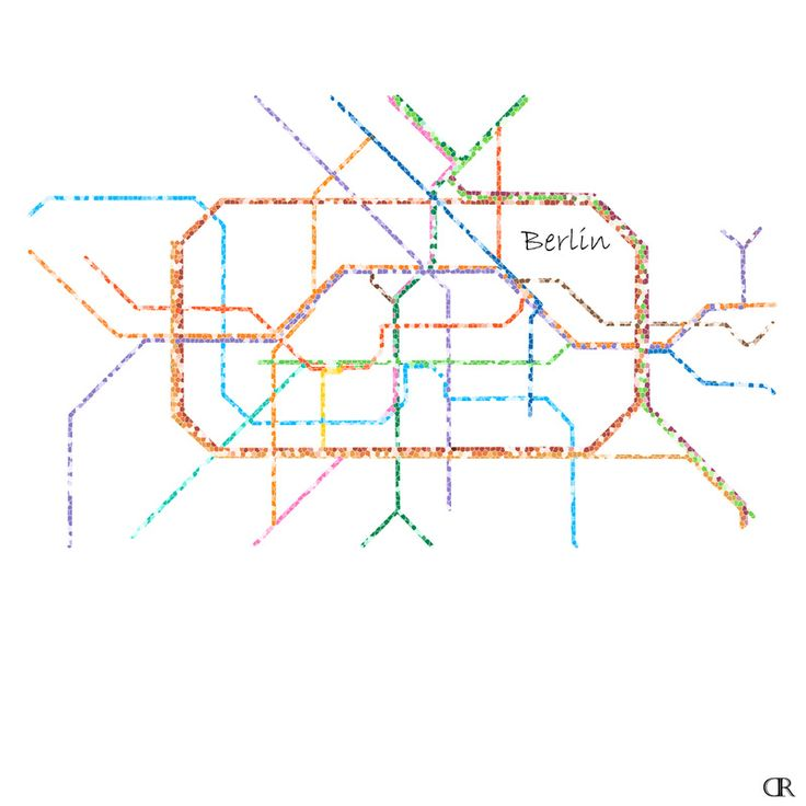 15 best cities subway maps as art images on pinterest map art berlin subway map art by design reader maps cities travel gumiabroncs Gallery