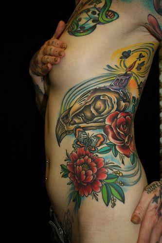 28 best rib cage tattoos images on pinterest rib cage tattoos tattoo ribs and tatoos. Black Bedroom Furniture Sets. Home Design Ideas