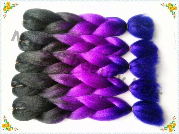 !three Tones Color Black&Purple&Dark Purple Jumbo Xpression Hair Braids,Ombre Kanekalon Braiding Hair, Hair Diy Feather Hair Extensions Rooster Feather Hair Extensions From Yuan252161839, $21.67  Dhgate.Com