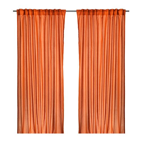 VIVAN Curtains, 1 pair IKEA The curtains let the light through but provide privacy so they are perfect to use in a layered window solution. $10 for 2