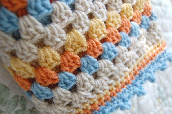 Blu di ordine  Crochet nonna piazza bambino coperta afgana
