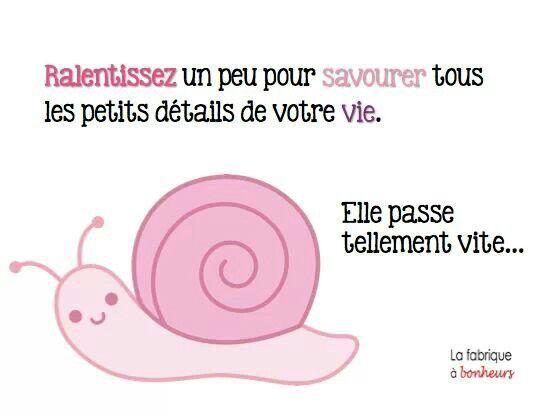 Je ralentis tu ralentis nous rallentissons !!! #quote #citations #cute #bonheur #love #temps #time