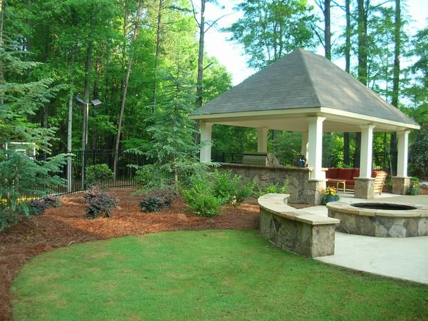 45 best by the kidney shaped pool images on pinterest for Open yard landscaping ideas